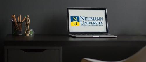 NU laptop on desk