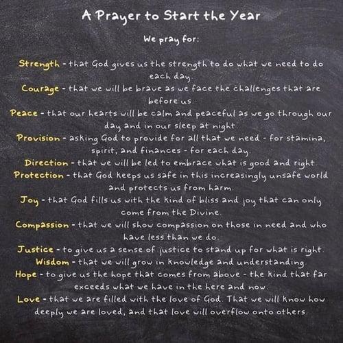 prayer to start the year