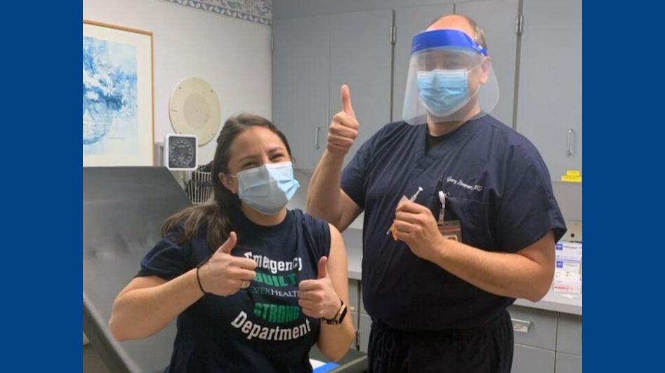 Megan George '15 First Nurse in Delco to Receive Vaccine